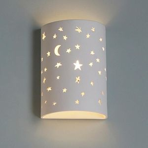 "9""  Starry Night Cylinder Sconce"