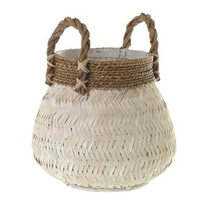 Bamboo Basket with Jute Handles