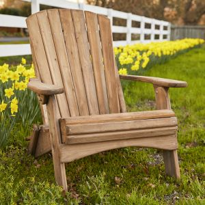 Natural Cedar Folding Adirondack Chair