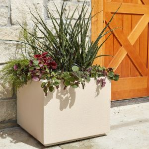 Malaga Square Planter with Toe Kick-Choose from 8 Colors