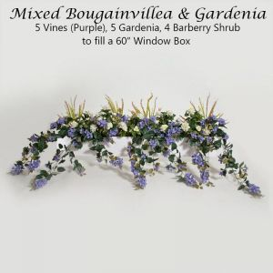 DIY Artificial Bougainvillea & Gardenia for Window Boxes - Purple