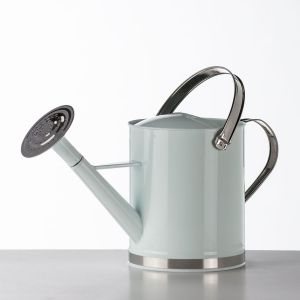 Traditional White Metal Watering Can