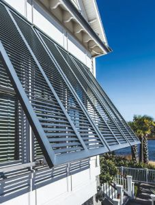 72in. Wide - Architectural Fiberglass Bahama Shutter Storm Rated w/ Optional Hardware Kit