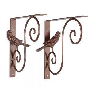 Bellevue Iron Bird Shelf Brackets - (Pair)