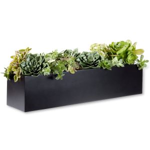 Modern Black Fiberglass Window Box - 7 Sizes