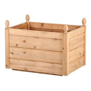 Bonita Cedar Rectangular Planter - 21in. L x 14in. W x 12in.