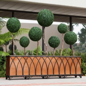 Bronze Arch Cage Wrought Iron Planter