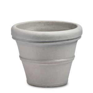 Belaire 12in. Planter - Weathered Concrete