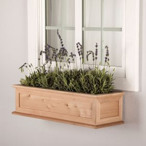 Cedar Framed Cottage Window Box