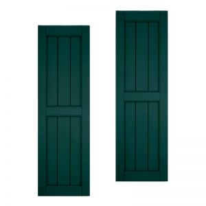 12in. Wide Classic Collection V-Groove Flat Panel Shutters w/ Center Rail