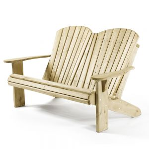Natural Cedar Classic Double Chair