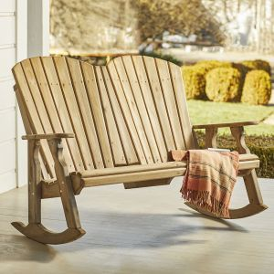 Natural Cedar Classic Double Rocker