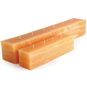 Unscented Amber Brick Candles