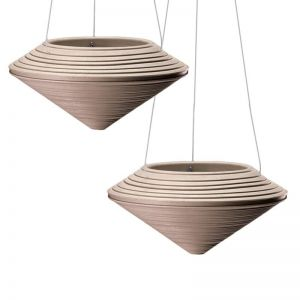 Danbury Weathered Stone Hanging Planters - Set of 2