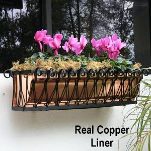 Del Mar Heights Copper Window Boxes- On SALE!  Only a few sizes left!