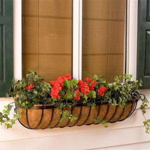 Deluxe Scroll Coco Window Boxes w/ Liner