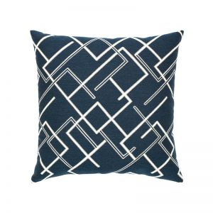 Divergence Indigo Outdoor Rated Pillow with Faux Down Fill