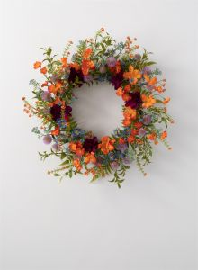 "21"" Artificial Dahlia Mix Wreath"