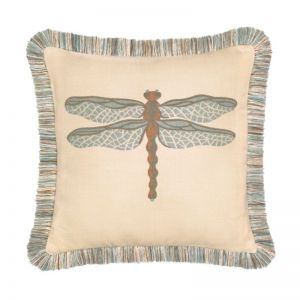 Dragonfly Spa Outdoor Rated Throw Pillow