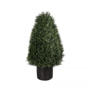 30in., 42in. Or 54in. Duraleaf Cypress Cone Topiary Tree, Outdoor