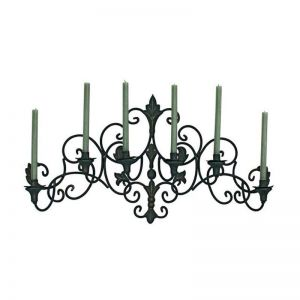 Elegant Six Candle Iron Wall Sconce