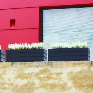 Elmhurst 36in. Low Rectangular Planter - Choose from 4 Colors