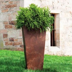 Eloquence Tall Resin Planters -Choose from 3 sizes and 2 colors