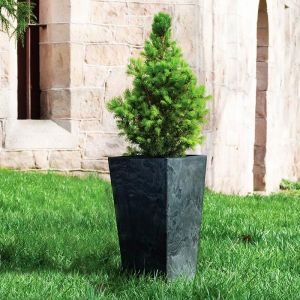 Black Eloquence Tall Resin Planters -Choose from 3 sizes