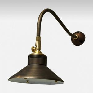 Enterprise Low Voltage Wall Mounted Light - Weathered Brass