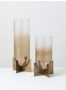 Pillar Candle Holders - Set of 2