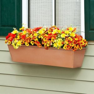 Galvanized Window Boxes- Copper Tone Metal