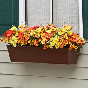 Galvanized Window Boxes- Textured Bronze (Hammered Finish)