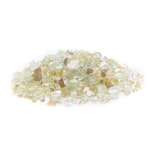 Gold Reflective Fire Glass - 25 lbs - Small Quarter Inch