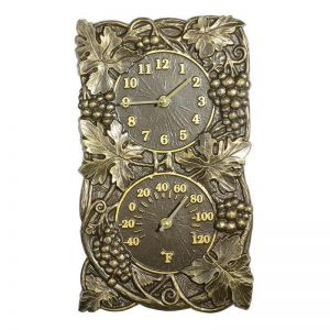 Grapevine Clock & Thermometer Combo
