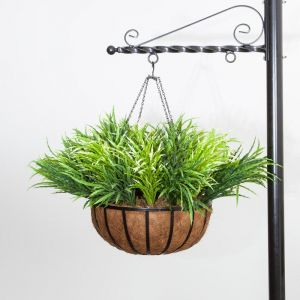 Grass Mix in 22in Hanging Basket, Outdoor Rated