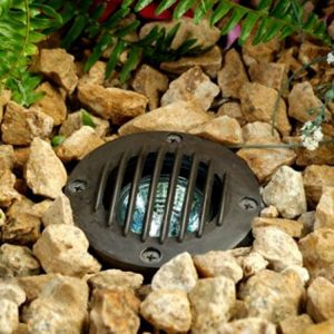 In-Ground LED Well Light with Grill and MR16-LED Lamp - 2 colors available
