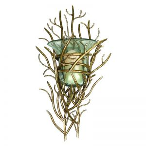 Italian Twig Hurricane Glass Wall Sconce