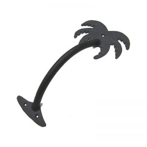 Large Palm Tree Pull Handle - Flat Black