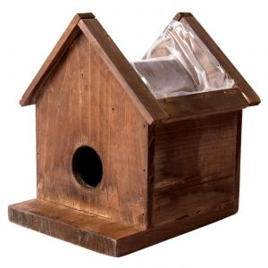 Large Plantable Wood Birdhouse