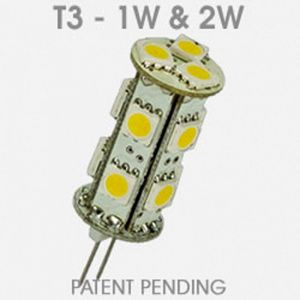 LED T3 Lamp 2 Watt - White