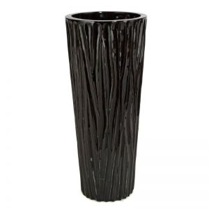 25 inch Tall Mabel Fiberglass Tall Tapered Round Planter -Choose from 2 Colors