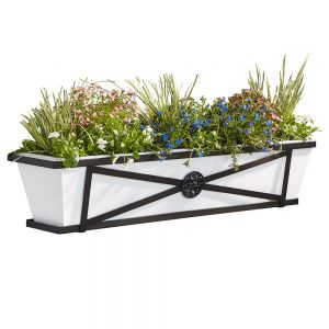 Medallion Decora Window Boxes With Plastic Liners
