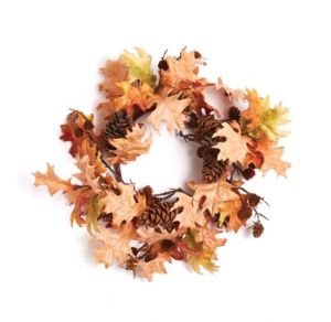 """17"""" Artificial Maple and Pinecone Wreath"""