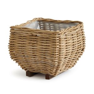 "14.5"" Rattan Tapered Square Basket"