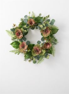 "24"" Artificial Oleracea Wreath"