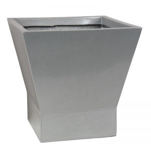 14 inch Tall Olmstead Fiberglass Square Tapered Planter -Choose from 2 Colors