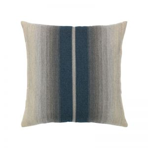 Ombre Indigo Outdoor Rated Throw Pillow with Faux Down Fill