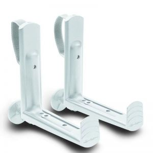 Pair of White Brackets for Cottage Weave Deck Rail Box