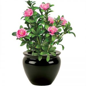 18in. Pink Azalea Bush, Indoor Artificial