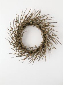 """24"""" Artificial Pussywillow Twig Wreath"""